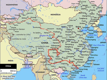 China map route