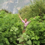 Philipp at Tiger Leaping Gorge