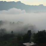 Foggy Lubiao near Hanging Bo Coffins