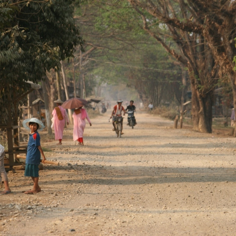 On the burmese road