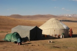 Camping at Song Kul