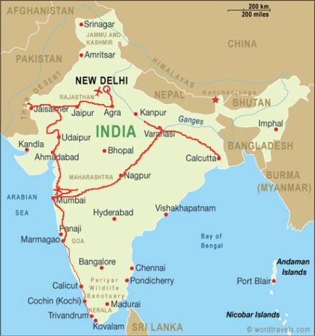 India map route