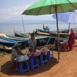 Food stalls at Indogyi lake