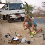 Flat tyre-break