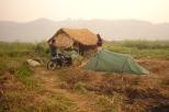 Camping while trekking