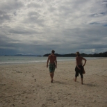 Tony and Philipp on Koh Payam beach