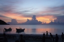 Sunrise after fullmoonparty on Koh Pangan