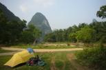 Camping at Li River