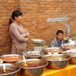 Family on a market in Kunming