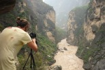 Philipp filming Tiger Leaping Gorge