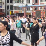 Chinese culture: Evening dance on the peoples square