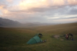 Camping on Irkeshtam pass