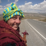 Janina cycling Kyrgyzstan