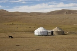 Yurts at Song Kul lake