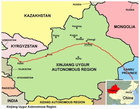 Uyghur Xinjiang route