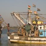 Pier in Chapora beach