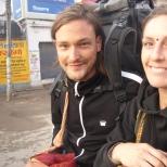 Travelers in Varanasi