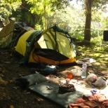 Camping on HK Island