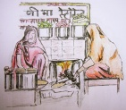Women cooking, Pushkar, India