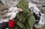Erschöpft im Schnee
