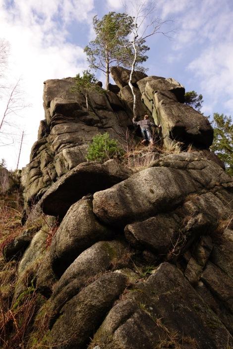 Tagesausflug ohne Sorgen zum Klettern