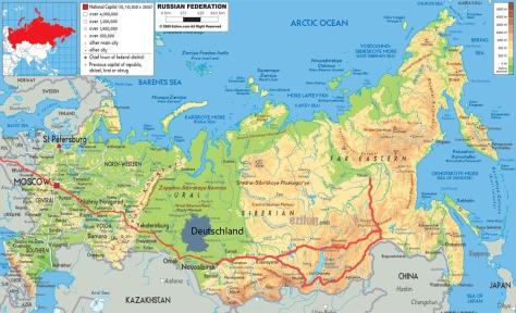 Route Sibirien