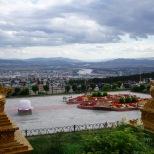 Buddhistischer Tempel über Ulan-Ude, Burjatien