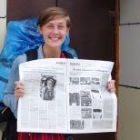 Jakutischer Fame: Interview mit mir für die Tageszeitung in Jakutsk
