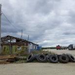 """Rastplatz an """"der Trasse"""" - zwischen Tommot und Jakutsk, Republik Sacha (Jakutien)"""