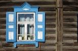 Fenster in Ulan-Ude, Burjatien