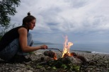 Feuer am Baikalsee