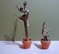 Kleine Seelen (Treibholz aus dem Harz, Autoglas)