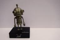 """Josef"" (Machinarium) - 17x6x4cm, Figur, Super Sculpey, Acryl"