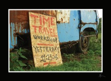 """Time Travel"" - Postkarte"